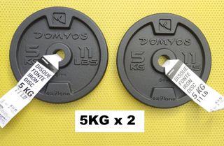 ENVÍO GRATIS. 2 * 5kg discos musculación