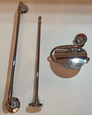 Set colgadores baño de Acero Inoxidable