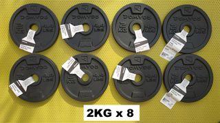 ENVÍO GRATIS. 8 * 2kg discos musculación