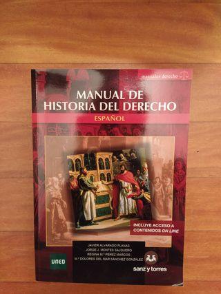 manual de historia del derecho español. uned