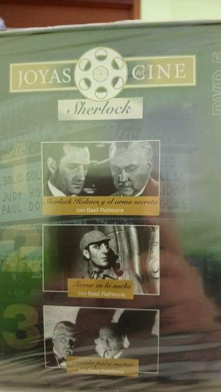 cine sherlock dvd 3 películas