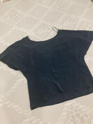 Camisa manga corta azul marino