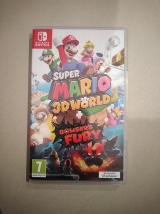 Super Mario 3d world con caja metálica.