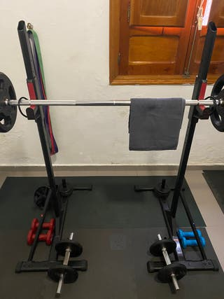 Rack musculación soporte de barra