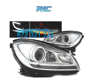 FAROS MERCEDES W204 11-14 TUBE LIGHT + LED FONDO C
