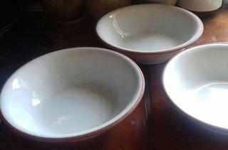 2 Platos bandeja y 3 Bowls ceramica