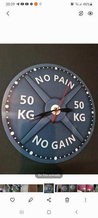 reloj dexorativo disco pesa
