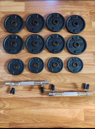 Kit de discos de 24 kg ( dos mancuernas )