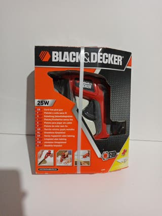 pistola silicona black decker cola caliente 25w