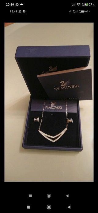 conjunto Swarovski collar pendientes