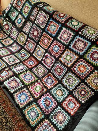 Colcha de ganchillo para sofá o cama individual