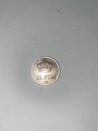 Moneda 25 pesetas rRey Juan Carlos 1975
