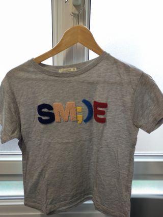 camiseta Smile gris