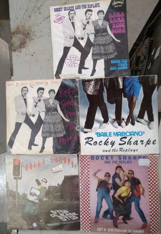 5 singles vinilo Rocky sharpe and The replays