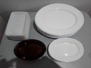 bandejas cristal y ceramica