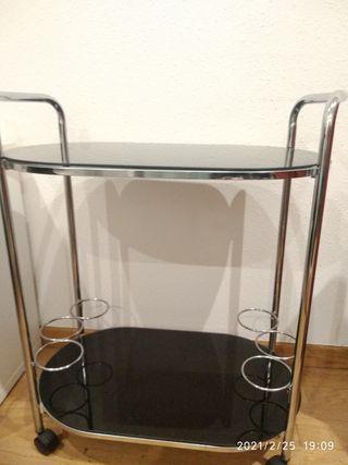 Mueble bar de ruedas - camarera - mesa auxiliar
