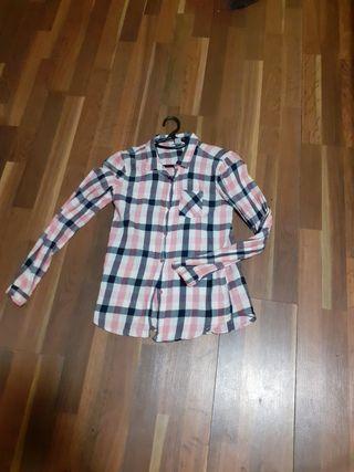 camisa cuadros mujer talla S