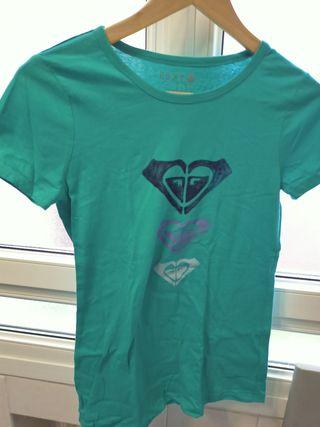 camiseta roxy color verde turquesa