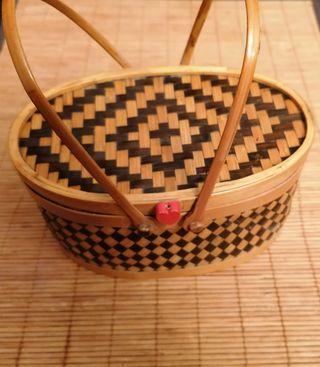 joyero de bambu