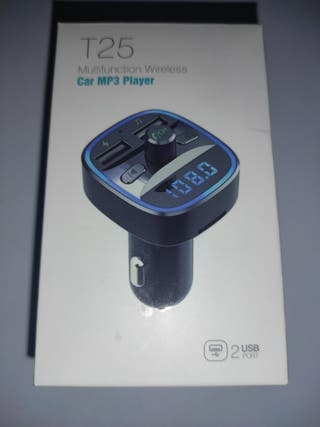 transmisor FM para el coche. música bluetooth