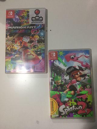 Mariokart y Splatoon 2 para Nintendo switch