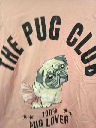 camiseta perro color rosa palo