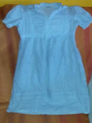 camisa de rayas azul y blanca l