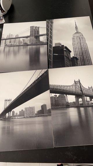 Cuadros blanco y negro NY