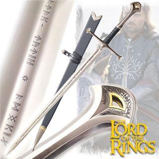 Espada Rey de Gondor Grabada + Soporte