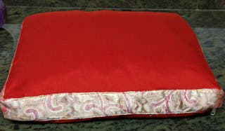 Zafú rectangular relleno de espelta