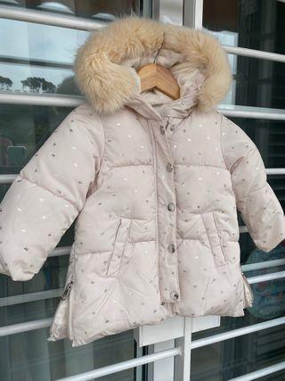 Abrigo beige talla 18-24 zara