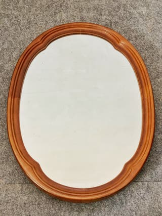 Espejo madera ovalado