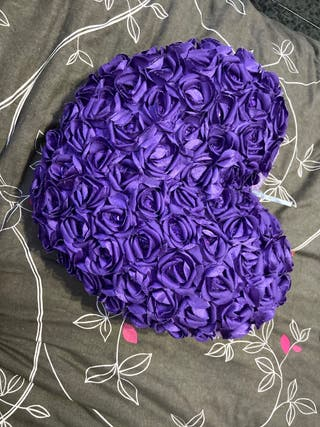 Cojín lila de pelo
