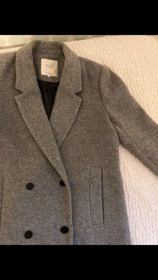 Abrigo mujer gris talla L. Zara