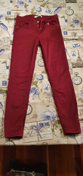 Pantalón chica granate