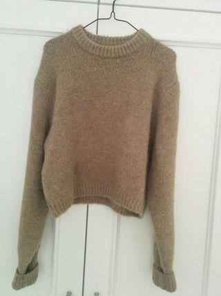 Jersey Zara beis marrón M