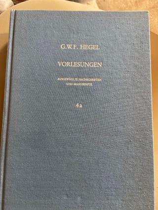 Libro en alemán de Hegel