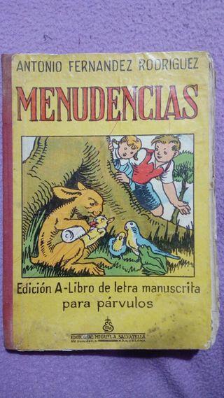 Libro antiguo Menudencias, Editorial Salvatella
