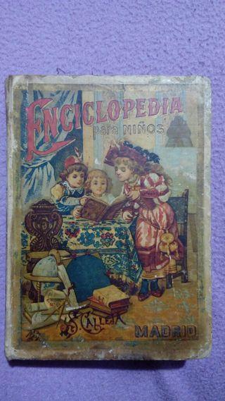 Libro antiguo Enciclopedia para niños, Ed. 1901