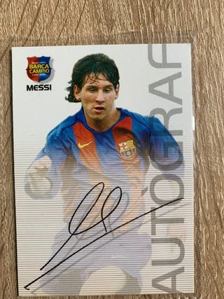 Messi ROOKIE Autografo 2004! (ORIGINAL)