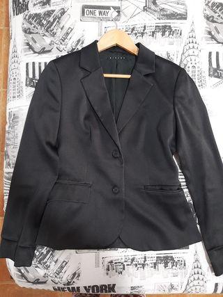chaqueta americana mujer tela raso