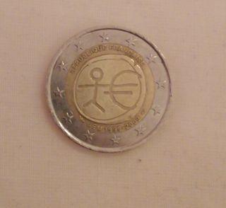 Moneda de dos euros Andalo UEM. Conmemorativa