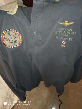 Polo Manga larga Aeronáutica Militare original.