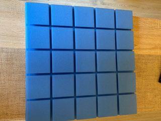 Panel Acústico cuadrados 50x50x5 azul OPOR