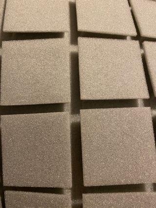 Panel Acústico cuadrados 50x50x5 gris