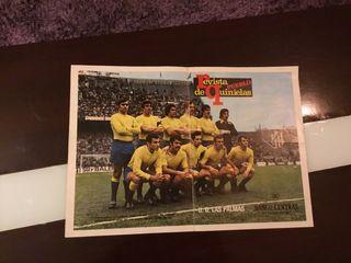 Antiguo poster futbol Las palmas