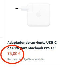 Cargador Original Apple USB-C 61W NUEVO / ESTRENO