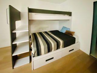 Literas con cama grande abajo y cajones