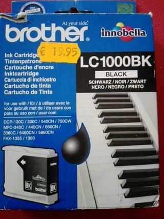 Cartucho tinta brother LC1000BK