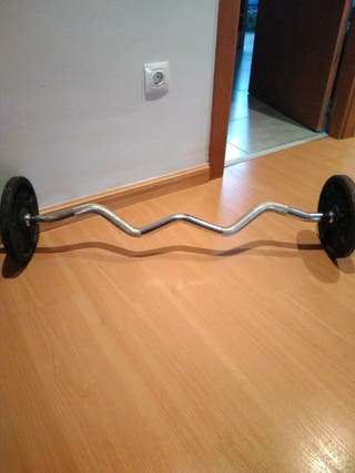 Barra Z con pesas de 5Kg